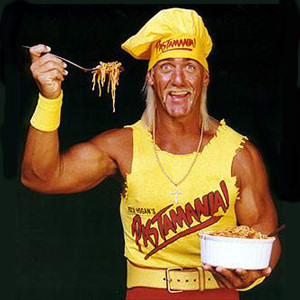 Hulk Hogan made us pasta....