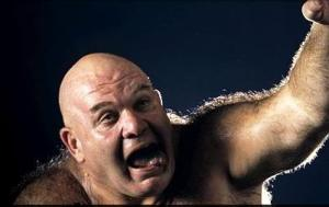 And George Steele is mentally handicapped.
